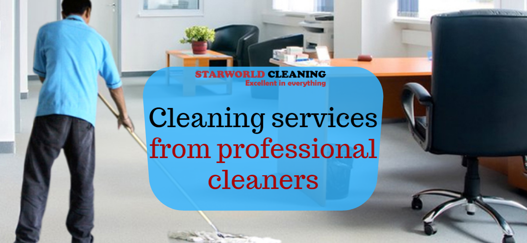 Cleaning services from professional cleaners